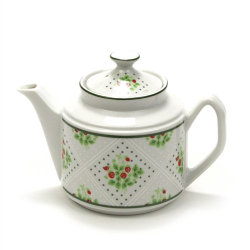 Swiss Strawberry Dot by Enesco, China Teapot