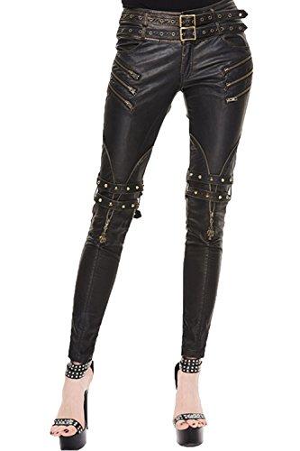 Adattamento Delle Gotiche Devil Stitching Pantaloni Matita Punk Donne Fashion 7 Gambali Pantaloni Sottile Taglie AZTwgx5q