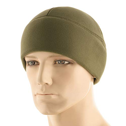 (M-Tac Fleece Beanie Tactical Watch Cap Premium Winter Hat (Army Olive, M))