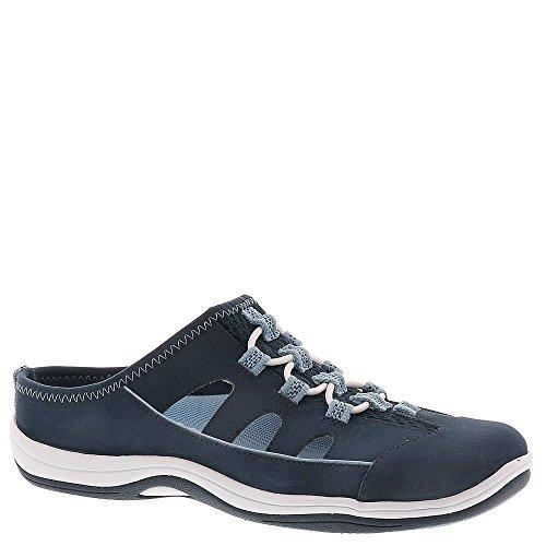 S/s Street (Easy Street Women's Barbara Fashion Sneaker, Navy Leather/Fabric, 9 M US)