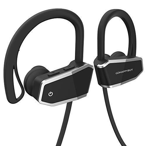 GDHAPPYBUY IPX7 Waterproof and Sweatproof Wireless Bluetooth Headphones Headset Earbuds for Sport – Hi-Fi Sound,Superb Bass and 8-10 Hrs Playing Time