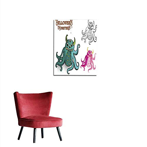 longbuyer Wall Sticker Decals Halloween Monsters Spooky Creature Illustration EPS File Mural 20