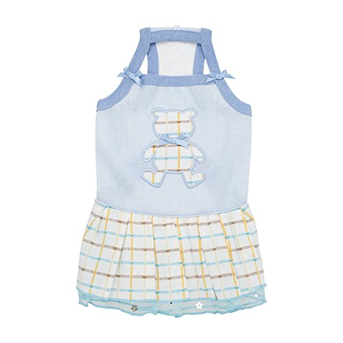Puppia Tot Dress, Small, Sky Blue by Puppia