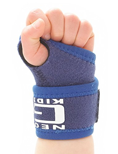 Neo G Wrist Brace for Kids - Support for Juvenile Arthritis, Joint Pain, Hand Sprains, Strains, Sports, Gymnastics, Tennis - Adjustable Compression - Class 1 Medical Device - One Size - Blue (Supports Wrist Gymnastics Girls)