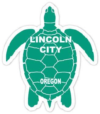 R and R Imports Lincoln City Oregon Souvenir 4 Inch Green Turtle Shape Decal Sticke (Lincoln City Stores)