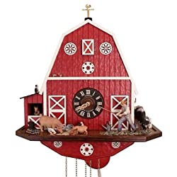 Schneider Cuckoo Clock American Barn Farmhouse 8-Day Movement with Music Limited Edition