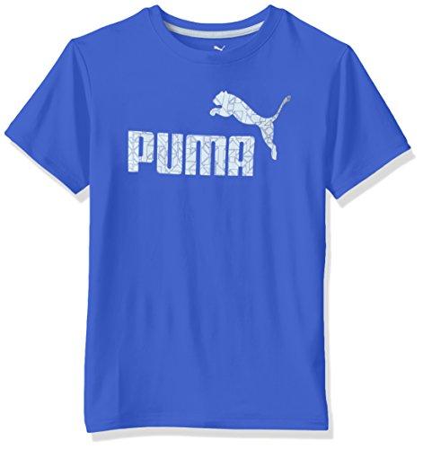 PUMA Big Boys' No.1 Logo Tee, Royal, 10-12 (Medium)