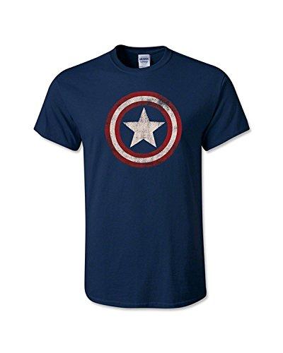 Captain America - Distressed Shield T-Shirt Size L ()