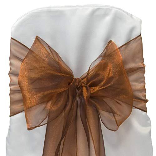 MDSのパック300オーガンザ椅子サッシ リボンの結婚やイベント宴会装飾椅子サッシ弓サッシ30以上の色 ゴールド 300 _organza 送料無料新品 公式通販 B079NP68K2 ブロンズ Bronze _