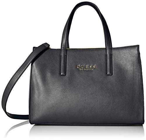 GUESS Sienna 2 in 1 Society Satchel, Black ()