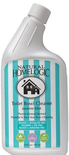 Natural HomeLogic Eco Friendly Toilet Bowl Cleaner, 24 oz Jasmine Mist | Non-Toxic, Sulfate Free, Fume Free, Safe, & Powerful Formula For A Natural Clean