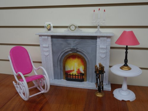 Barbie Size Gloria Fireplace Play Set