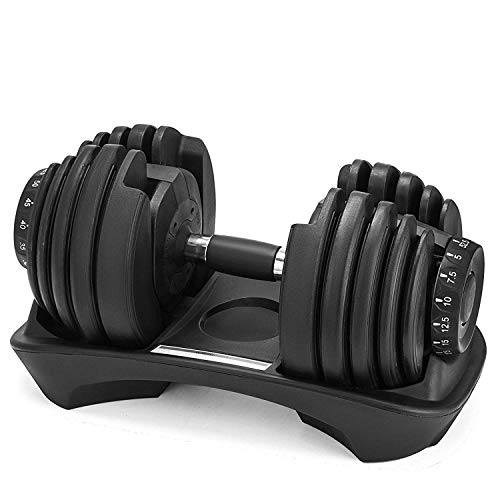 Popsport Adjustable Dumbbell Series Fitness Dumbbell Standard Adjustable Dumbbell with Handle and Weight Plate for Home Gym System- Building Muscle (Black, 90lbs) price tips cheap