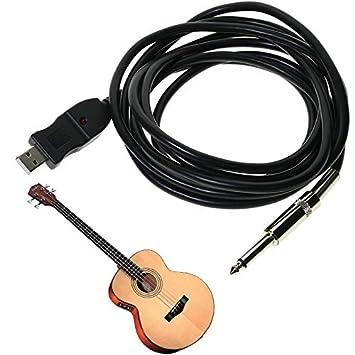 GoldenTrading 3M guitarra bajo 1/4 USB a 6,3 mm Jack Link ...