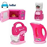FunBlast Household Set for Kids, (Set of 4) Pretend Play Set Includes Kettle, Mixer, Water Filter and Oven Toys for Girls