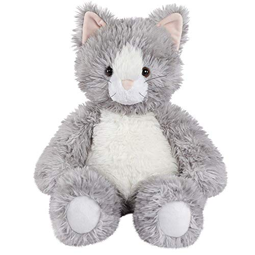 "Vermont Teddy Bear Oh So Soft Kitty Cat Stuffed Animals Plush Toy, Gray, 18"" from Vermont Teddy Bear"