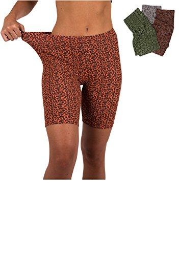 - Sexy Basics Womens 3 Pack Active Dance Running Yoga Bike - Boy Short Boxer Briefs (XL/8, 3 PK -Flora)