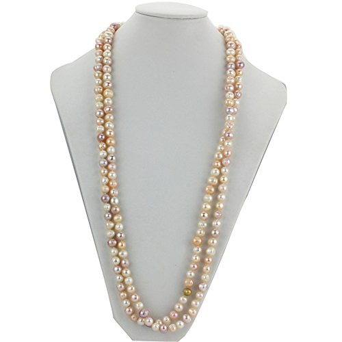 Chpel 8mm A Grade Potato 60'' Mixed Color Long Fresh Water Freshwater Pearl Necklace