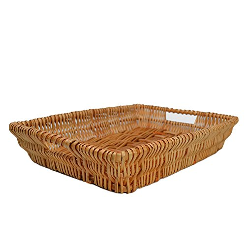 RURALITY Rectangular Wicker Storage Basket for Home, Shops or Markets (Basket Tray)