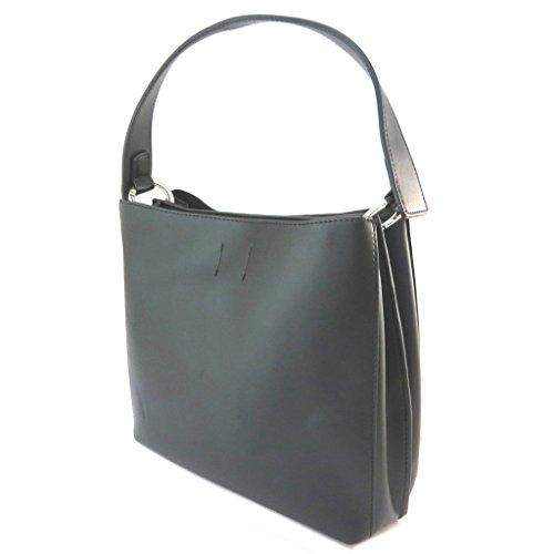 Bolsa creativa 'Fiorelli'negra (2 compartimentos)- 27x25x10.5 cm.