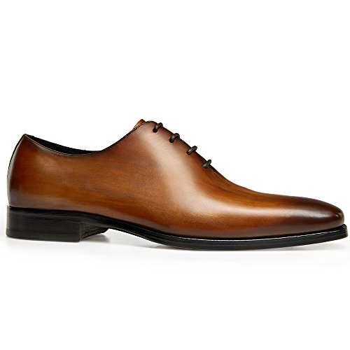 Gifennse Mens Classico Moderno Oxford Wingtip Lace Dress Scarpe (9,5 D (m) Us, Marrone)