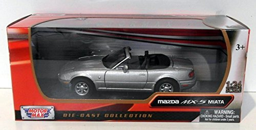 1-24-scale-73262s-mazda-mx5-roadster-mk1-miata-eunos-silver-model-car-by-motormax