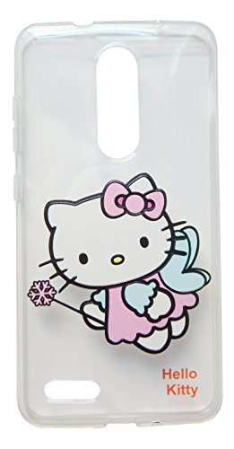 (TPKT3) Thickened Hello Kitty Clear shockproof case for ZTE ZMAX Pro / Z981 (6 inch) (Hello Kitty Phone Case For A Zte)