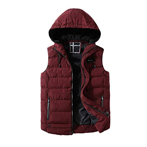 378fd6ee Men's Clothing, Winter Long Sleeve, Male Autumn Winter Coat Padded Cotton  Vest Warm Hooded