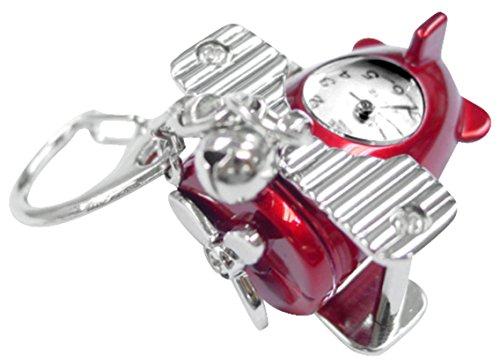 Red Biplane Novelty Belt Fob/Keychain Watch