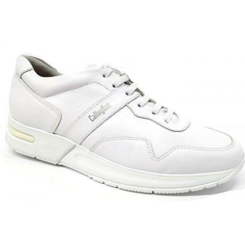 Callaghan Zapatillas de Piel Para Hombre Blanco Total White