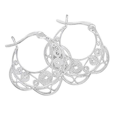 H. Gaventa Ltd - E - 11266 - Boucles d'oreilles créoles Femme - Argent Sterling 2.7 Gr