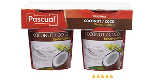 Pascual Yogur Sabor Coco - Paquete de 4 x 125 gr - Total: 500 gr ...