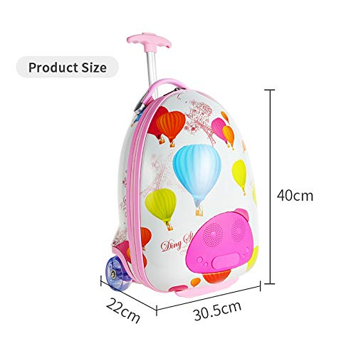LUCKYBIRD Karaoke Machine for Kids Multifunctional Travel Luggage & Bluetooth Speaker with Microphone for Girls by LUCKYBIRD (Image #2)