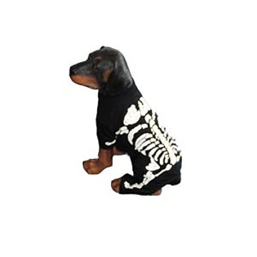 Dog Costume SKELETON BONES WHITE COSTUMES Glow in the Dark Dogs(Size 6)