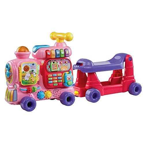 VTech Sit-to-Stand Ultimate Alphabet Train, Pink (Deluxe Alphabet Train)