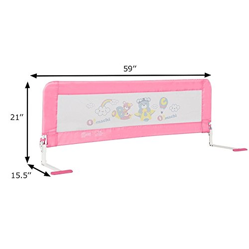 Toddler Bed Rail-Pink SBP-289 by COSTWAY (Image #5)