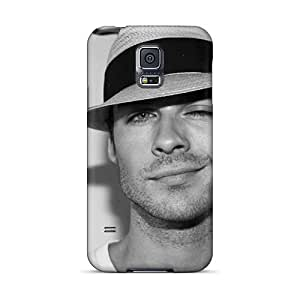 Scratch Protection Hard Cell-phone Case For Samsung Galaxy S5 (QsU15228efYA) Support Personal Customs High-definition Ian Somerhalder Skin