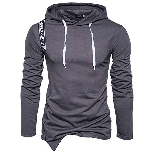 Clearance Sale for Men Tops.AIMTOPPY Men's Long Sleeve Solid Hoodie Hooded Sweatshirt Top Tee Outwear Blouse by AIMTOPPY top