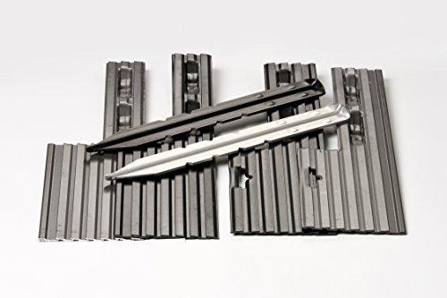 PRO Aluminum Landscape Edging - 1/8'' X 4'' X 8' (120' per box) - Mill Finish by Dreamscape Superior Landscape Edging (Image #3)