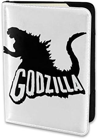 Godzilla Logo ゴジラ ロゴ パスポートケース メンズ 男女兼用 パスポートカバー パスポート用カバー パスポートバッグ 小型 携帯便利 シンプル ポーチ 5.5インチ高級PUレザー 家族 国内海外旅行用品