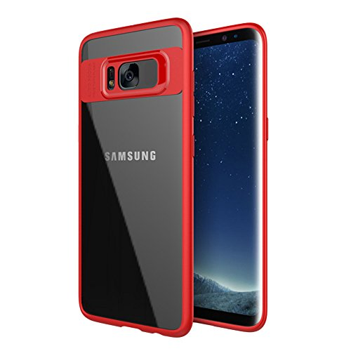 Optimus Prime Costume Diy (Hayder Samsung Galaxy S8 Case Hybrid Protective Clear Case Hard Cover For Samsung Galaxy S8 (Red))