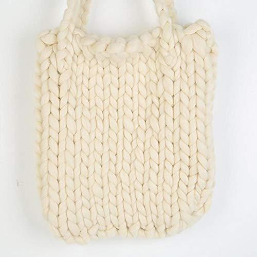 Leisure 30 Storage Mobile Thick Wool Style Phone Bag elec Key Crochet Color 33cm 2 Style Handbag Bag Bag tech Solid Women's Cotton Hippie Woven X q6wpxzR