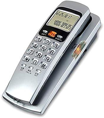 ZXL Teléfono Fijo para el hogar Teléfono Fijo, identificador de Llamadas Teléfono Colgador en la Pared Máquina para Colgar en la Cama, sin batería, Opcional: Amazon.es: Hogar