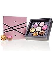 Love & CupCakes 7 – Pralines in de vorm van CupCakes | Luxe pralines | Cadeau | Geschenk | Bonbons | Chocolaatjes | Volwassenen | Man | Vrouw | Geschenkidee liefde | Verjaardag | Mama | Papa | Valentijn | Moederdag