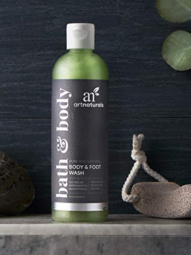 ArtNaturals Essential Bath and Body Wash - (12 Fl Oz / 355ml) - Tea Tree, Peppermint and Eucalyptus Oil -...