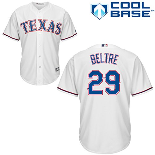 Majestic Athletic Texas Rangers Adrian Beltre 2015 Cool Base Home Jersey Small