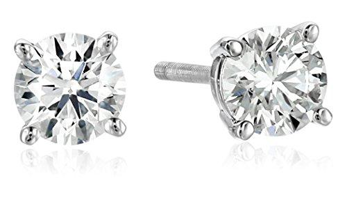Platinum Round Diamond Stud Earrings product image