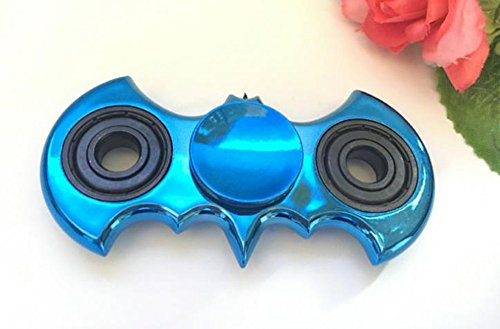 Inspirationc Small Portable Metal Batman Hand Spinner Fidget Toy for Killing Time Relieves Stress Anxiety And Relax for Children Fast Bearing EDC Focus Toy Help ADHD sufferers--Blue