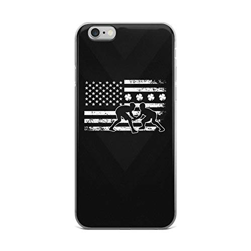 (iPhone 6 Plus/6s Plus Pure Clear Case Cases Cover Irish American Flag Wrestling White Independence Day Patriotic Animal 4th of July USA)
