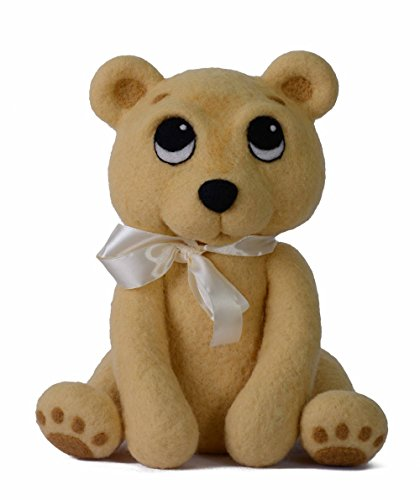 Handmade Felt Puppet - SUNNY FELT Kids Plush Toy Stuffed Animal European Hand Made Adorable Cute & Cuddy Gift (Bear - Light Brown)